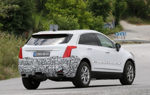 Обновленный Cadillac XT5 впервые замечен на тестах